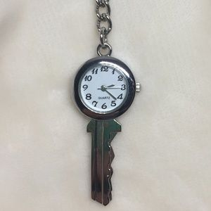 New in box stainless steel key watch with key ring